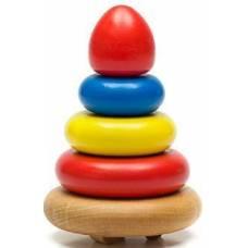 Деревянная игрушка Пирамидка из 5 деталей Томик 202