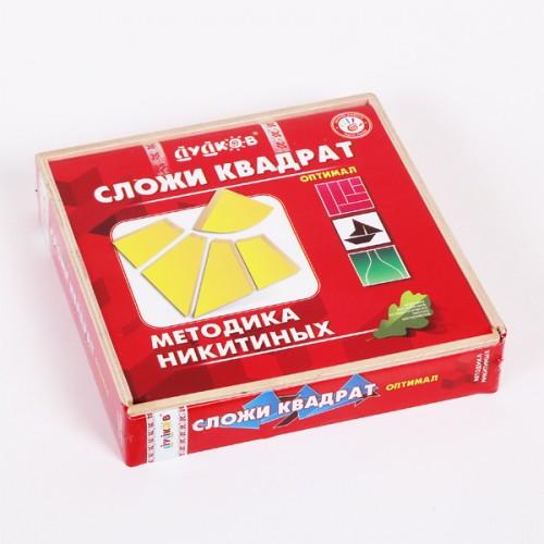 Деревянные кубики Методика Никитиных Сложи квадрат Оптимал Дудков ДИ-0013