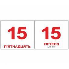 Англо-украинские карточки Домана МИНИ ЧислаNumbers 40 Вундеркинд с пелёнок 2100064065712