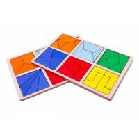 Пособие для обучения Сложи квадрат 2 уровень, Методика Никитиных Розумный лис 90071