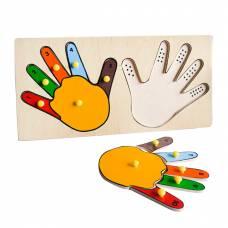 Пособие для обучения Рамка-вкладыши Руки математика ЛЭМ 5001