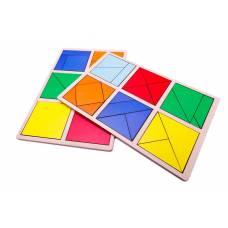 Пособие для обучения Сложи квадрат 1 уровень, Методика Никитиных Розумный лис 90070
