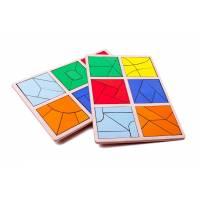 Пособие для обучения Сложи квадрат 3 уровень, Методика Никитиных Розумный лис 90072
