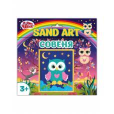 Картинка из песка. Сова Чудик