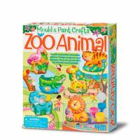 Набор для творчества 4M Лепной зоопарк 00-04753