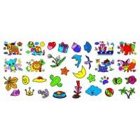 Чудо-раскраски 33 наклейки Веселые прописи Развивающие задания Летучая мышка Кристал Бук
