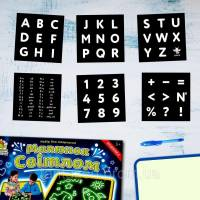 Трафареты Alphabet для Рисуй светом ТМ Люмик
