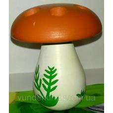 Шнуровка Белый гриб на 6 отверстий с деревянной иголкой Вундеркинд Ш-032
