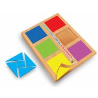 Деревянные кубики Методика Никитина Сложи квадрат 3 уровень, 12 квадратов Вундеркинд СК-021